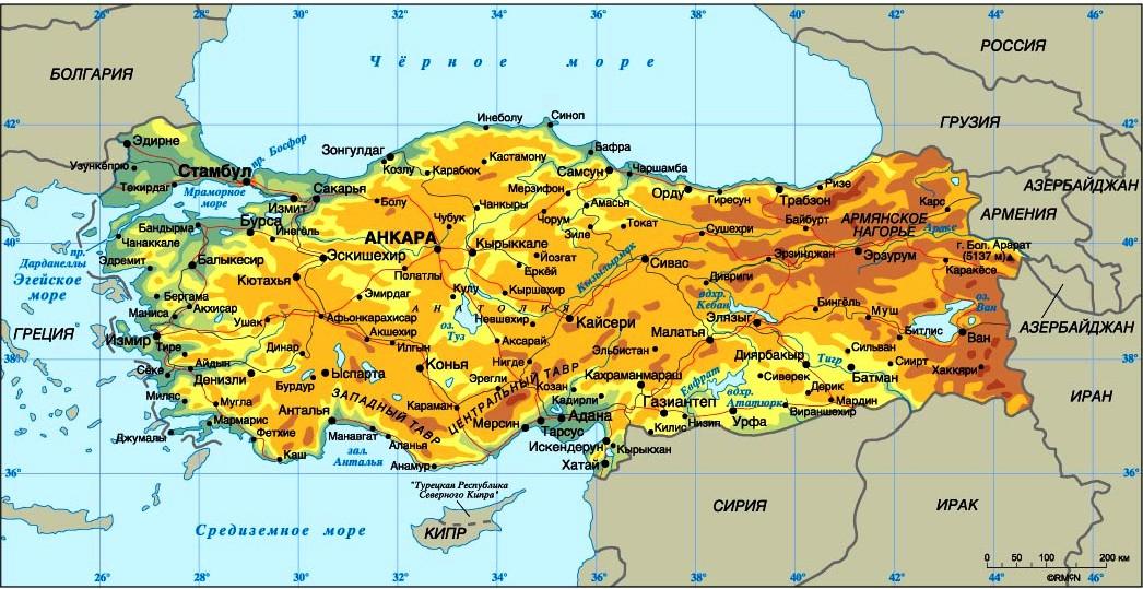 Перевозки из Турции